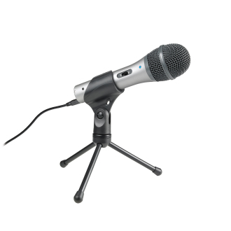 First Cheap Podcasting Setup microphone